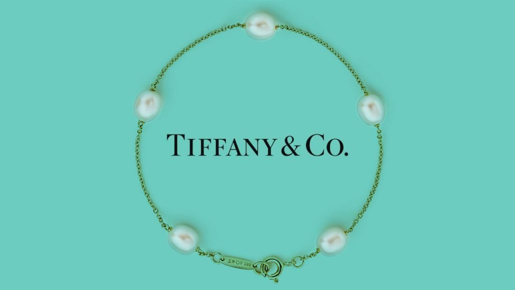 tiffany bracelet 14k gold and pearl